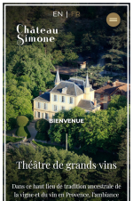 Site mobile Chateau Simone